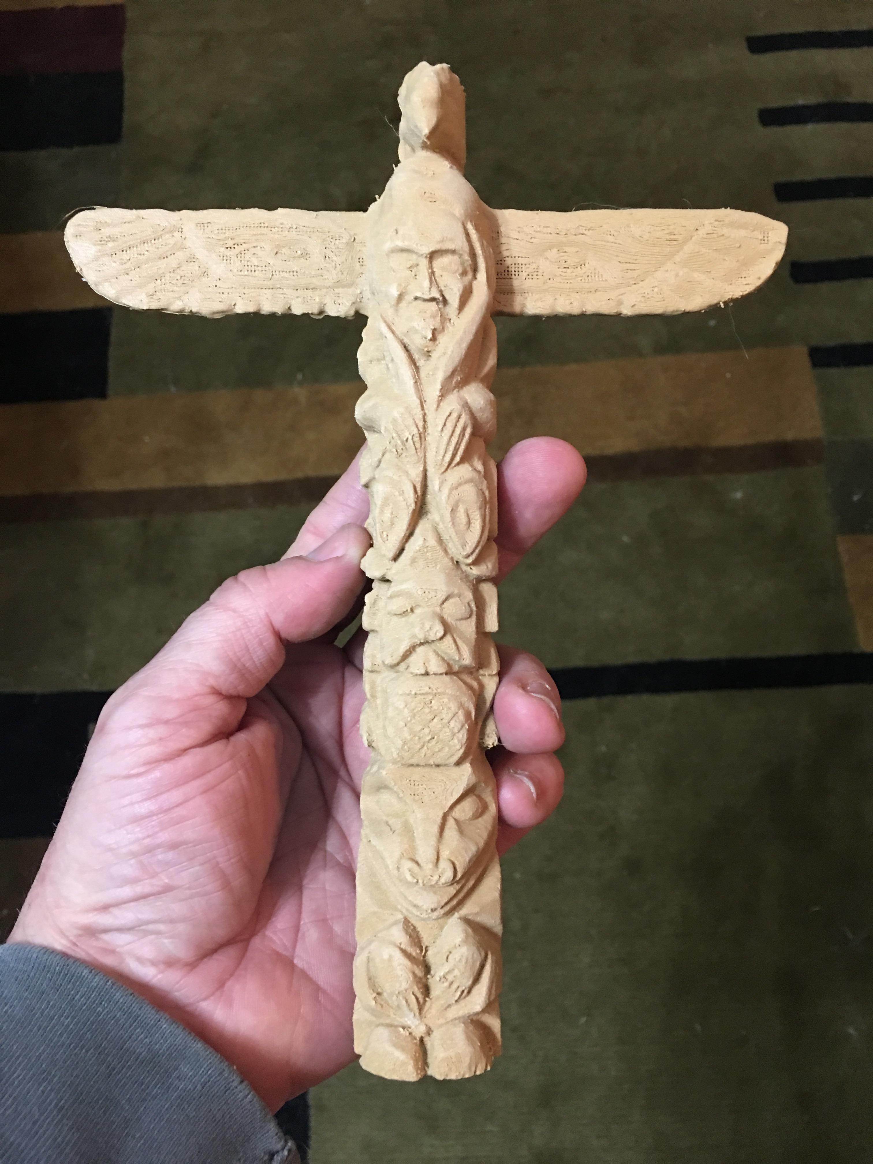 3d Printable Totem Pole Photoscan By Whitney Potter