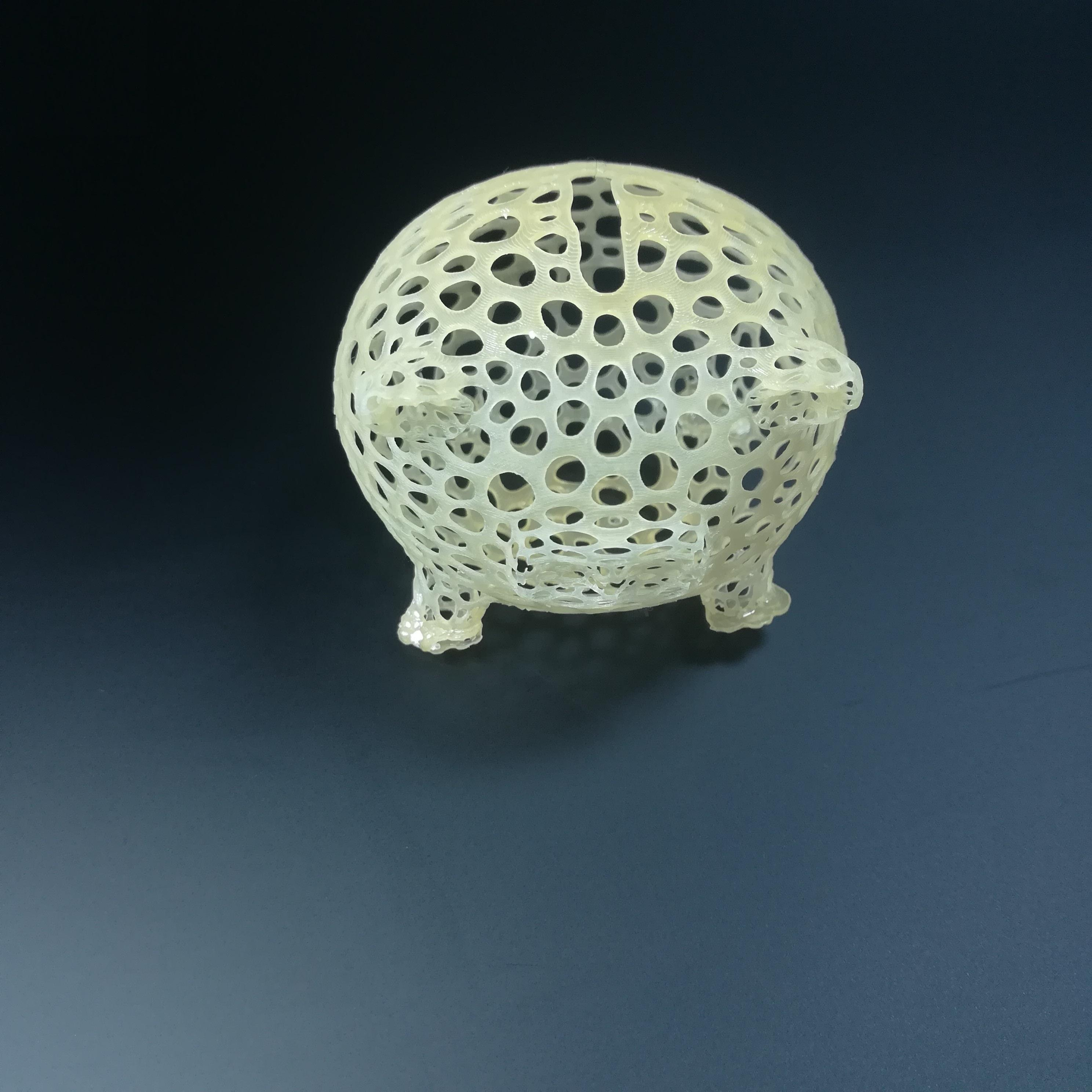 3d Printable Voronoi Piggy Bank By Tom David