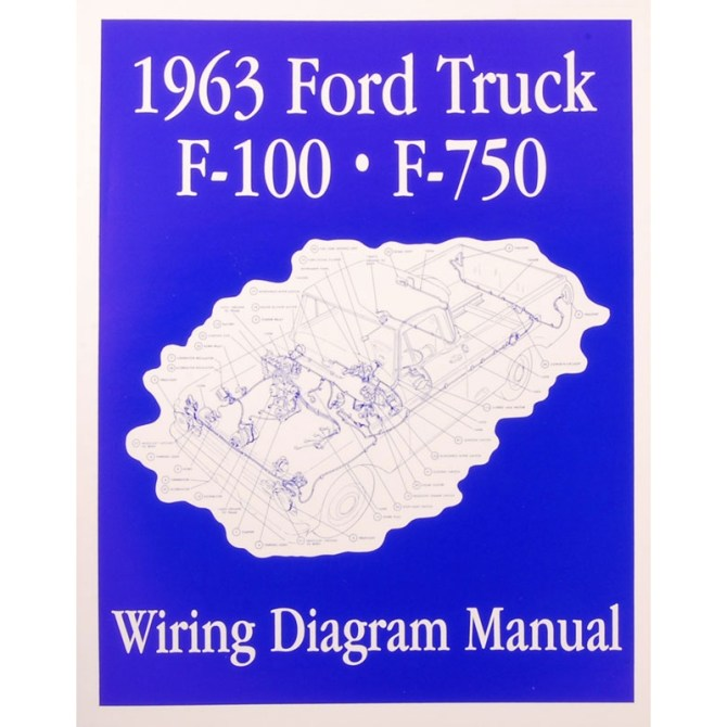 book  wiring diagram manual  truck  1963 ford truck  product details  dennis carpenter ford restoration parts for trucks broncos cars tractors