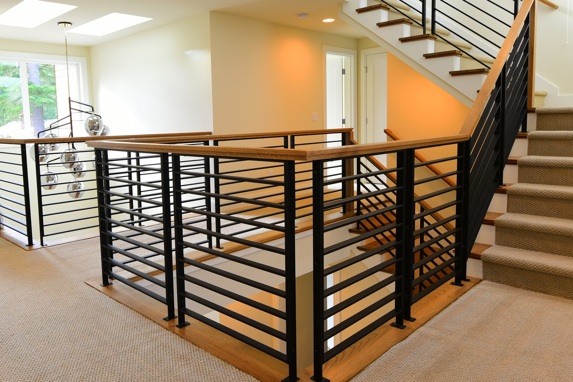 Stair Systems Stairs Stair Parts Newels Balusters And   Tubular Design For Stairs   Finished   Minimalist   Decorative Wood Railing   Contemporary   Home Tower
