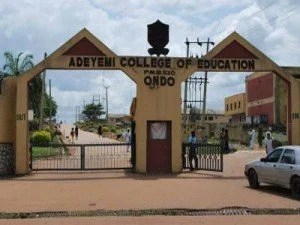 adeyemi college of education direct entry admission list