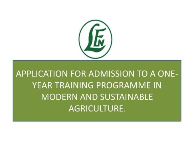 Leventis Foundation Admission Form