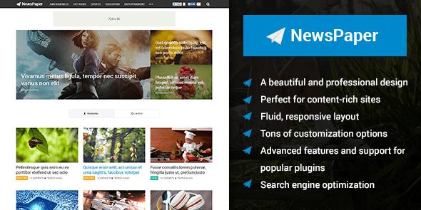 NewsPaper Content-Oriented WordPress Magazine Theme