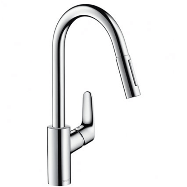 hansgrohe focus sink mixer with pull out spray