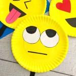 Super Cute Emoji Paper Plate Craft Emotions Theme Party Prop Natural Beach Living
