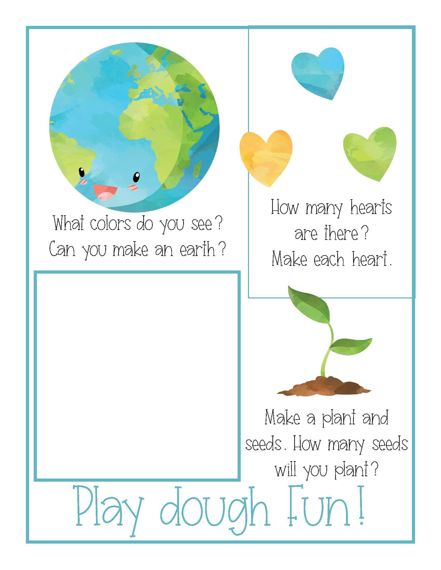 Earth Day Preschool Activities Pack