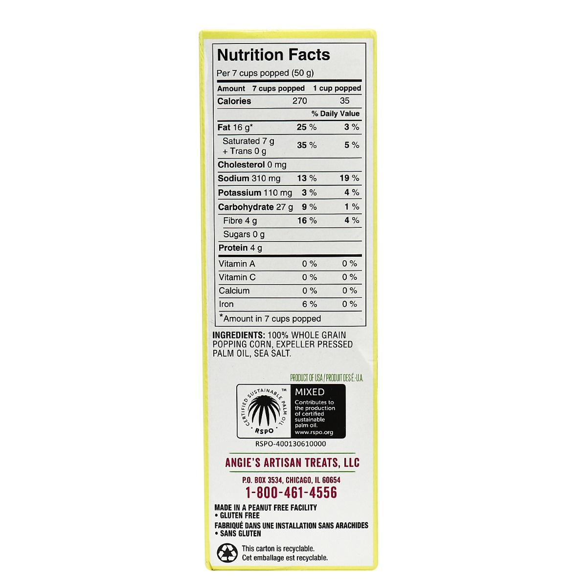 angie s boomchickapop microwave popcorn sea salt 4 bags