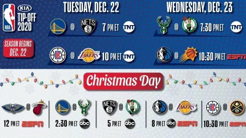 nba christmas day schedule