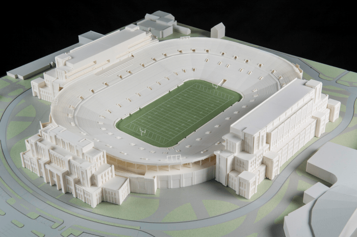 Pending approval from the Board of Trustees, the Campus Crossroads Project will add a new student center, a digital media studio and academic offices to the existing Stadium
