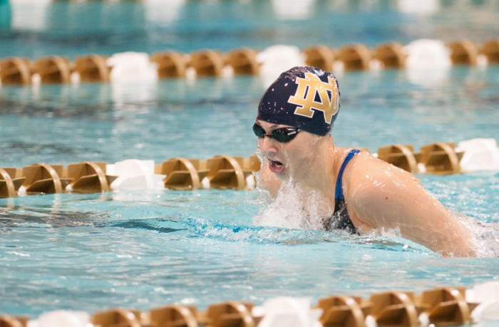 Junior Emma Reaney races in the 200  IM. On Saturday, she won the national championship in the 200 breaststroke.