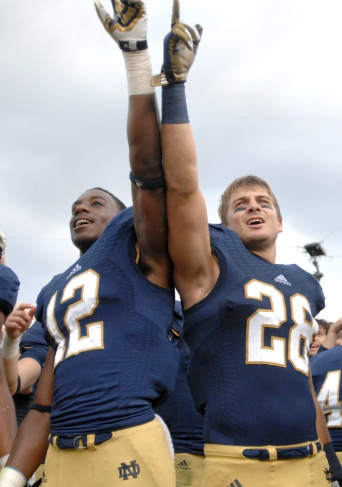 20130831 Football vs Temple, Collinsworth and Butler, Observer File Photo