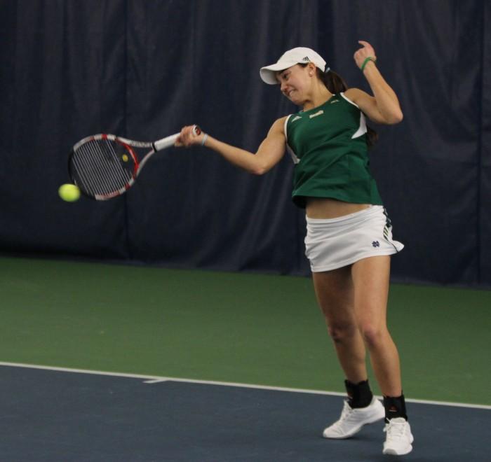 20140221, 2013-2014, 20140221, Eck Tennis Center, Emmet Farnan, The Observer, vs Georgia Tech, W Tennis