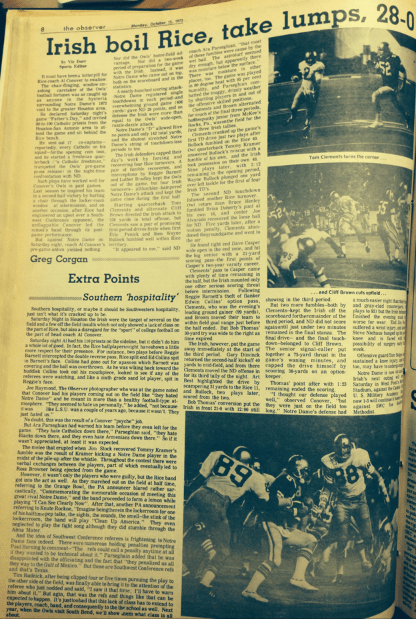The Observer from Oct. 15, 1973.