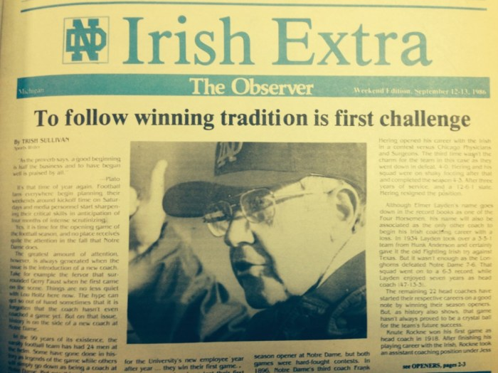 The Observer from Sept. 12-13, 1986.