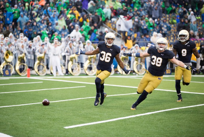 TOP 20141004, 2014-2015, 20141004, Football, Kevin Song, Luke, Notre Dame Stadium, vs Stanford