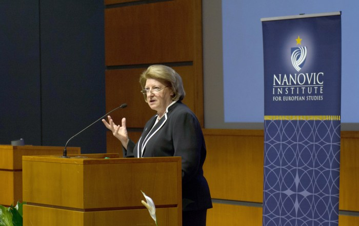 20141028, Poland Lecture, Hanna Suchocka, Nanovic Institute, Annmarie Soller