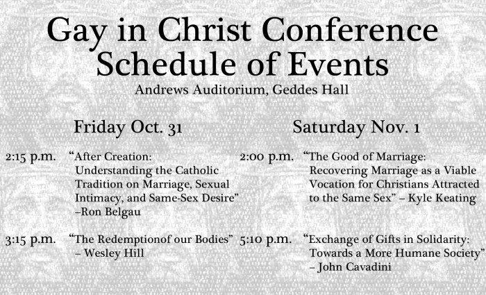 Gay in Christ Conference Sched