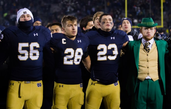 20141115, 2014-2015, 20141115, Emmet Farnan, Football, Home, Northwestern, Notre Dame Stadium, The Observer, vs Northwestern