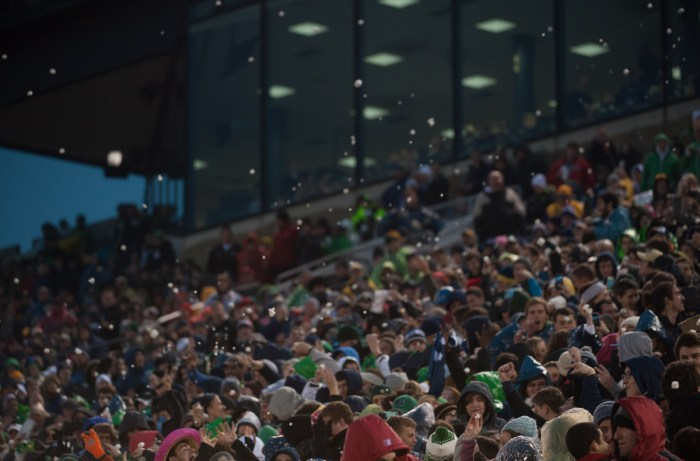 News Football Wrap, 20141122, 20141122, Emily McConville, football vs. Louisville, Notre Dame Stadium