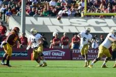 Irish senior quarterback Everett Golson throws the ball. Kevin Song | The Observer.