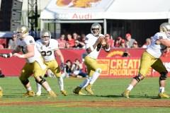 Irish sophomore quarterback Malik Zaire looks to pass the ball.