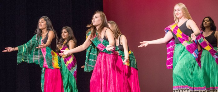 The Indian Association of Notre Dame performs a Bollywood dance at Thursday night's rehearsal for this weekend's Asian Allure shows.