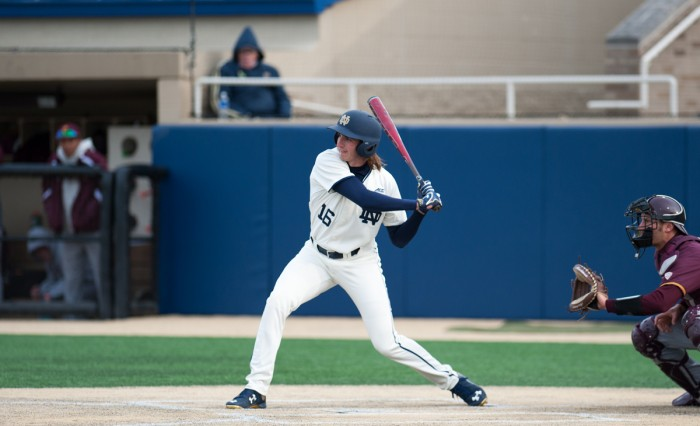 Junior infielder Zak Kutsulis swings during a win against Central Michigan on March 18. Kutsulis has stolen five bases this year.