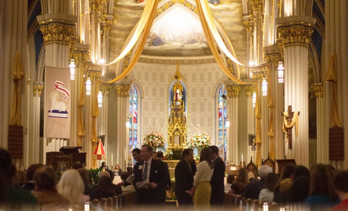 The Basilica of the Sacred Heart will open its Holy Door at Mass this Sunday, marking an Extraordinary Jubilee Year of Mercy. Pope Francis announced the extraordinary jubilee last March.