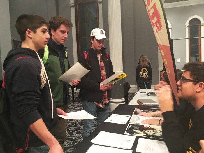 Freshmen explore different branches of student government during FUEL's second annual Freshman Networking Fair on Monday night.