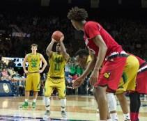 20160213, 20160213, Caitlyn Jordan, Men's Basketball, ND vs Louisville, Purcell Pavilion-11