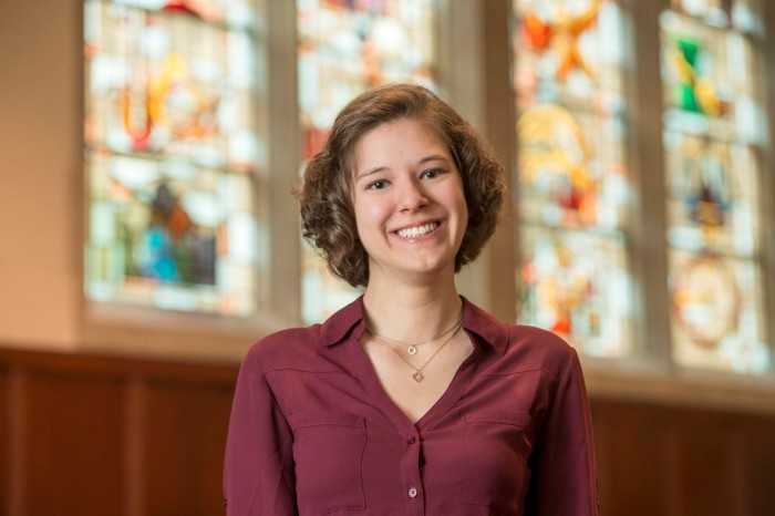 Political science major Abby Davis, who holds a 3.99 GPA, was named Notre Dame's Valedictorian on Monday.