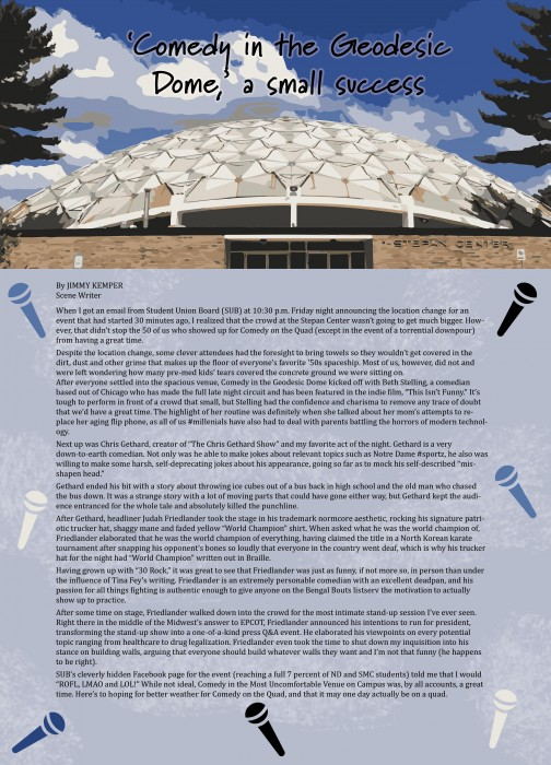 Comedy in the Geodesic Dome lower res