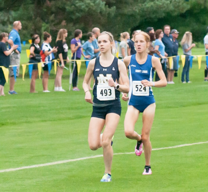 Irish sophomore Annie Heffernan competes in the National Catholic Championship on Sept. 18, 2015, where she finished third overall.