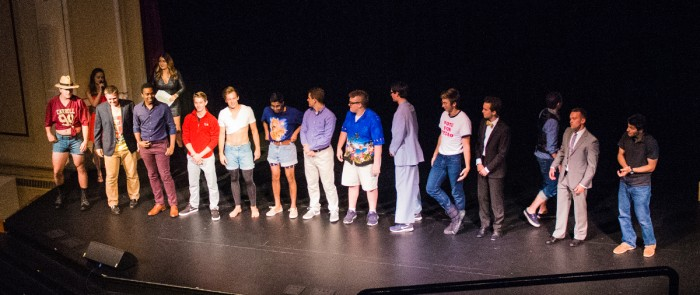 Contestants from all 16 male dorms compete to be crowned Mr. ND in Walsh Hall's signature event.