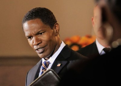 Jame Foxx as President Sawyer in White House Down