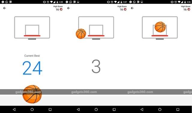 Basketball Game in Facebook Messenger