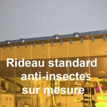 rideau a lanieres pvc anti insectes sur mesure