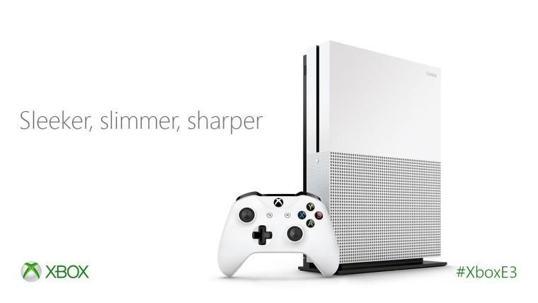 A white Xbox One S