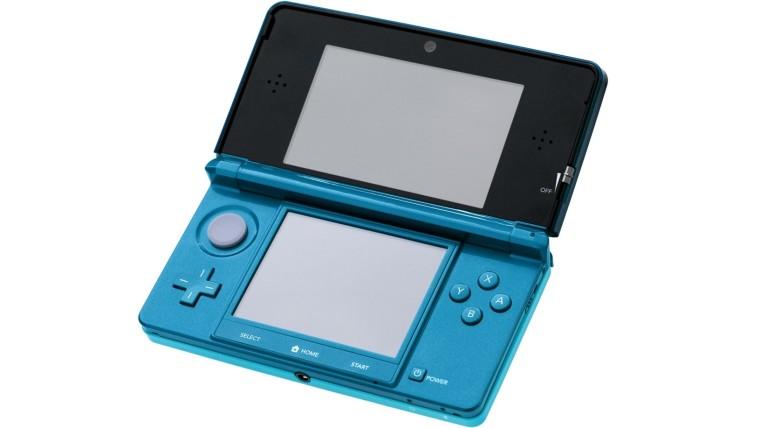 An Aqua Blue Nintendo 3DS