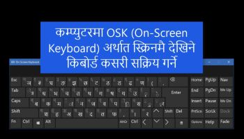 How to enable Nepali language Keyboard in Windows 8 & RT