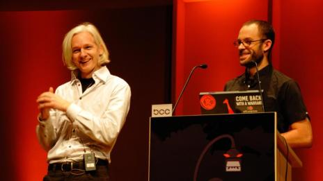 Julian Assange und Daniel Domscheit-Berg