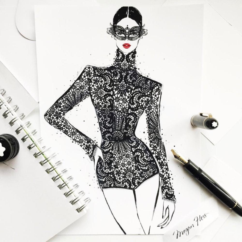 Fashion illustrator Megan Hess on how drawing dresses became a     Fashion illustrator Megan Hess on how drawing dresses became a career