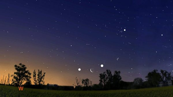 Venus and Jupiter will be lined up around the crescent ...