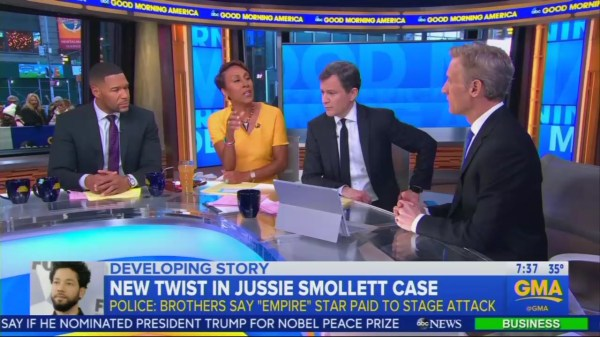 As Smollett Story Unravels, ABC Defends Robin Roberts ...