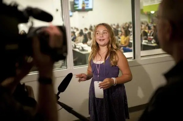 Olivia Bouler, 12, of Islip, who became the