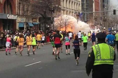 The moment the second explosion occurred near the