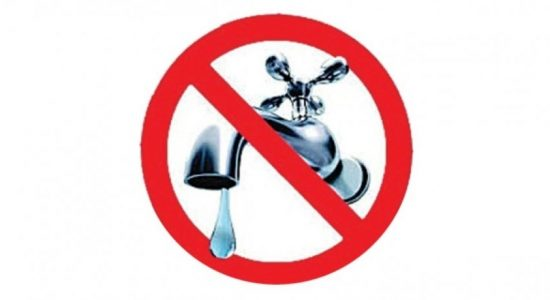 10-hour water cut for Colombo 12, 13, 14 and 15: NWSDB