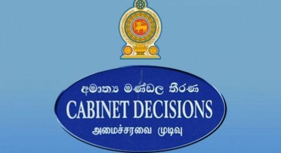 Cabinet approves draft 20th amendment