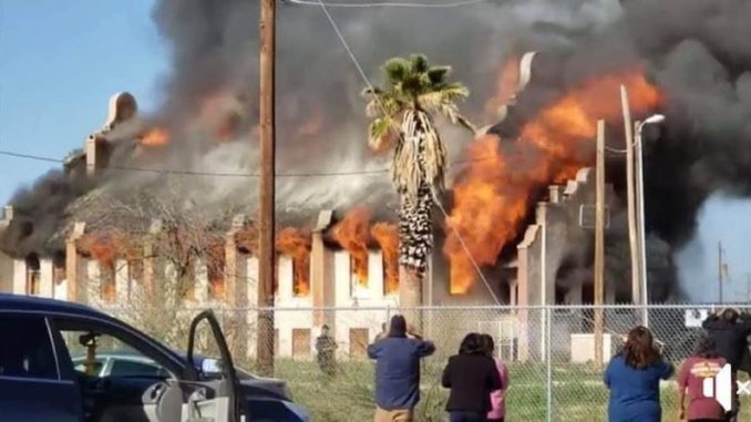 The historic Presbyterian church in Sacaton, Arizona — the oldest church in the state — has been burnt to the ground by arsonists.
