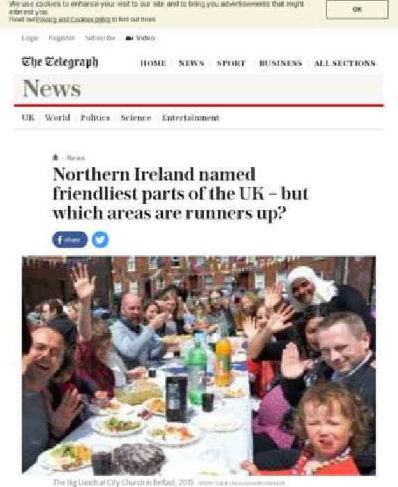 Northern Ireland named friendliest part of the UK – but ...